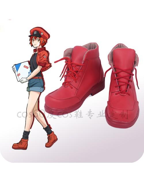 赤血球はたらく細胞コスプレ靴高品質せっけっきゅう コスプレ靴イベント変装