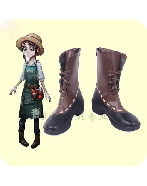 第五人格エマ庭師風コスプレ靴高品質IdentityⅤアイデンティティV庭師コスブーツ人気通販