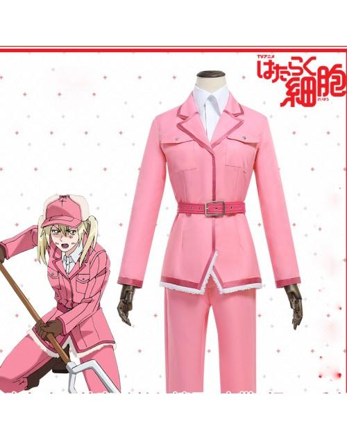 激安はたらく細胞好酸球コスプレ制服おすすめピンクこうさんきゅうコスプレ衣装