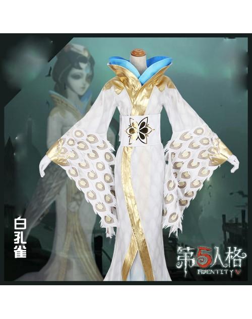 第五人格美智子白孔雀コスプレ衣装Identity V芸者スキンコス仮装 コスチューム衣装