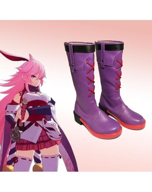 崩壊3rd 逆神の巫女八重桜コスプレ靴高品質やえ さくらcosplayブーツ通販