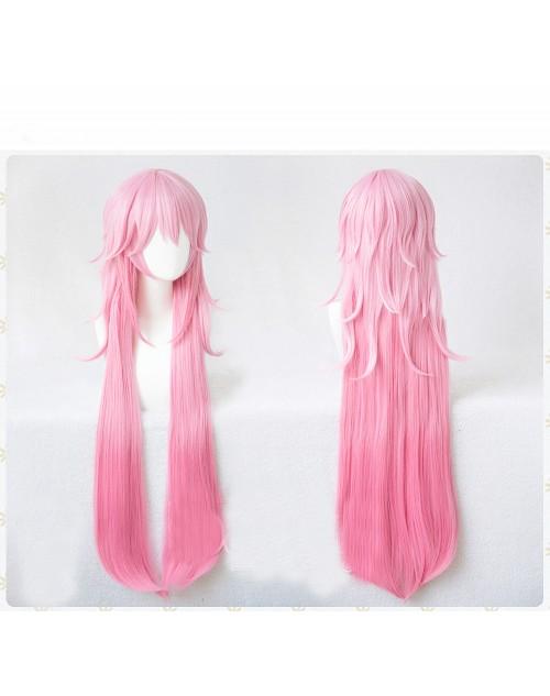 崩壊3rd 八重桜コスプレウィッグ逆神の巫女グラデーションかつらピンク