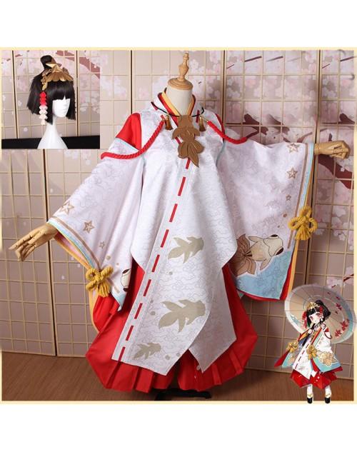 高品質神楽キャラクター陰陽師コスプレ 999日 雛姫の記憶 着物高品質和服