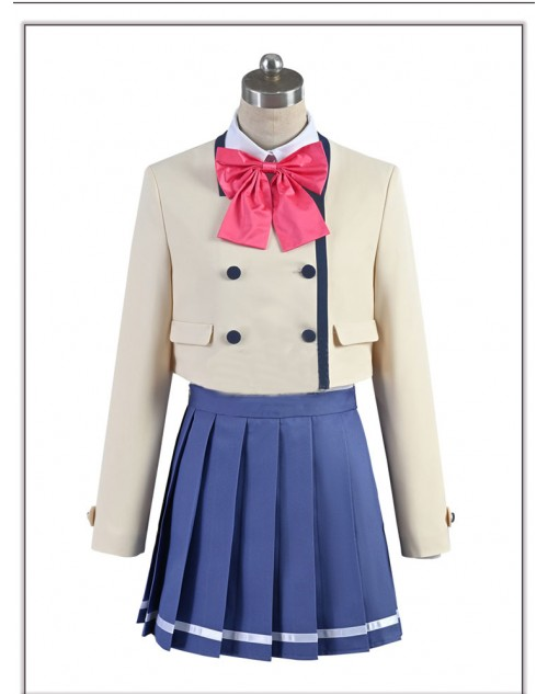 カノジョも彼女佐木 咲コスプレ衣装かわいいcosplayアニメコスチューム 激安衣装 コス服制服ハイクストキングつきオリティ