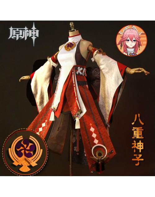 原神Genshin八重神子やえみこコスプレ衣装かわいいコスチュームおすすめハイクオリティ作りの良いcosplay服装販売