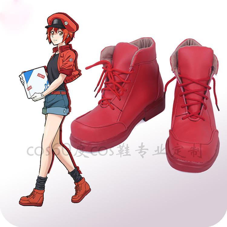 はたらく細胞赤血球コス靴